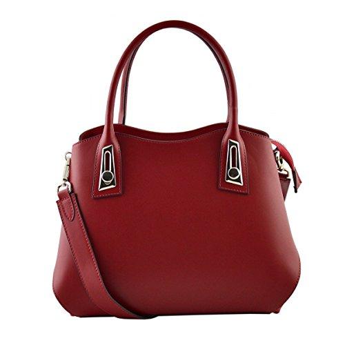 6702000c77 A Donna Italy In Pelletteria Borsa Made Mano Vera Pelle Colore Rosso Toscana  SFqdTwPq