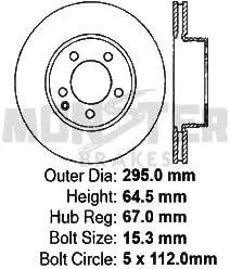 High-End 4 Cross-Drilled Disc Brake Rotors 8 Semi-Metallic Pads 5lug Front+Rear Kit Fits:- Mercedes-Benz