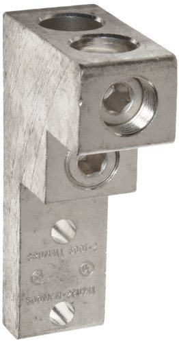 Aluminum Mechanical Lugs Panelboard Lugs - 2 Conductors 2 Hole 600MCM-3/0 (Pkg of 2)