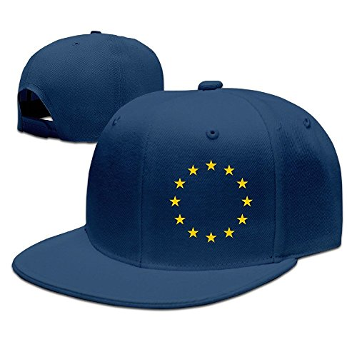 MaNeg Flag Of Europe Unisex Fashion Cool Adjustable Snapback Baseball Cap Hat One Size - Armani.co.uk