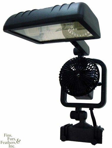 Jbj Metal Halide - JBJ K-2 Viper Deluxe 250W HQI Clamp on Lamp Lighting Fixture w/ 2 LEDs & Fan
