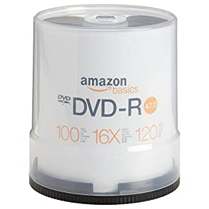 AmazonBasics 4.7 GB 16x DVD-R (100-Pack Spindle) by AmazonBasics