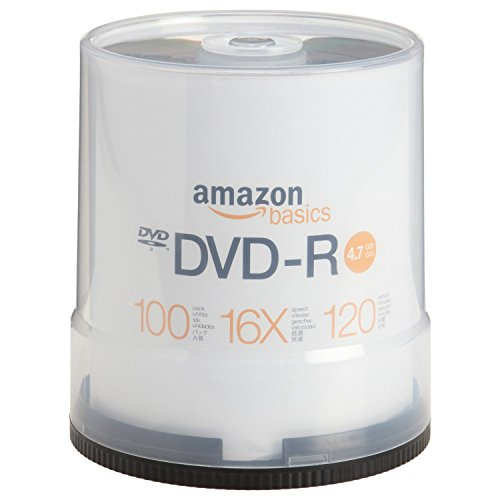 AmazonBasics 4.7 GB 16x DVD-R (100-Pack Spindle) (Player Dvd Recordable)