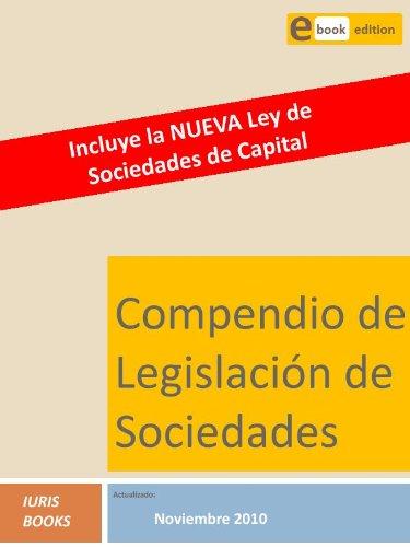 Descargar Libro Compendio Legislación De Sociedades Iuris Books