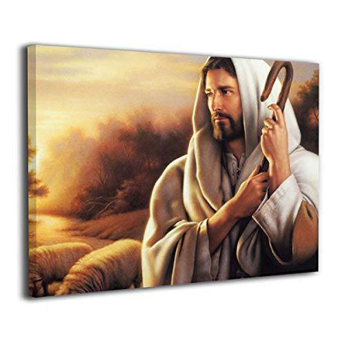 LNGDSIA None Frame Decorative Painting for Kitchen Jesus Christ The Good Shepherd