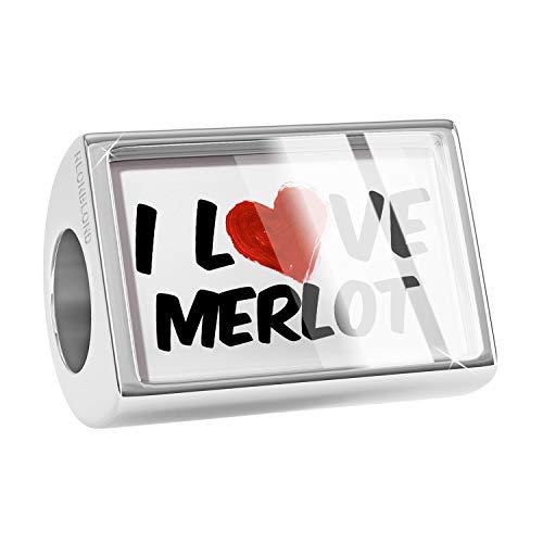 (NEONBLOND Charm I Love Merlot Wine Bead)