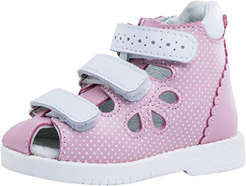 Kotofey Toddler Girl Sandals 122118-21 Genuine Leather Orthopedic Sandals with Arch Support