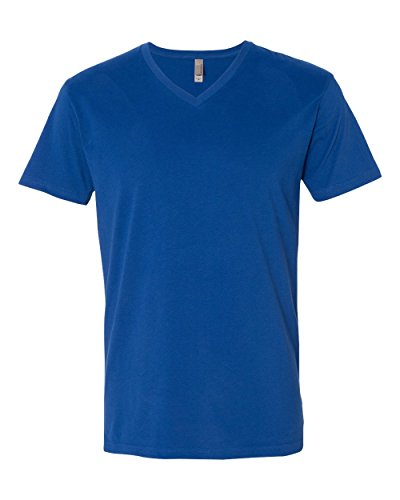 (Next Level 6440 Premium Fitted Sueded V-Neck Tee Royal X-Small)