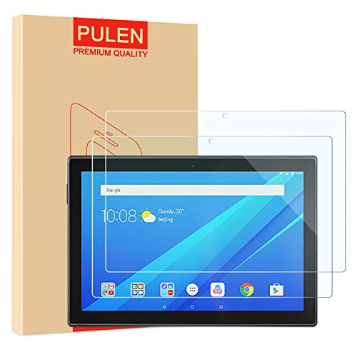 [2-Pack] PULEN Screen Protector for Lenovo Tab M10 2019 (Not for Lenovo M10 Plus),HD Clear Easy Installation Anti-Fingerprints Bubble free 9H Hardness Tempered Glass