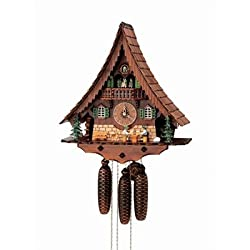 18 Chalet Cuckoo Clock with Moving Beer Drinkers and Dancers