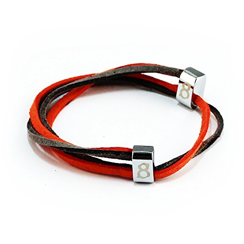 st8te- Men's & Women's Adjustable Soft Suede Leather Bracelets (Slate Orange) Suede Fashion Bracelet