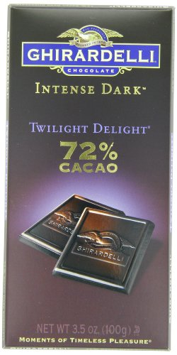 Ghirardelli Chocolate Bar foncé intense, Crépuscule Delight, 3,5 oz, 6 comte