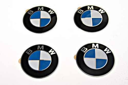 (BMW Genuine Wheel Center Cap Emblems Decals Stickers 58mm)
