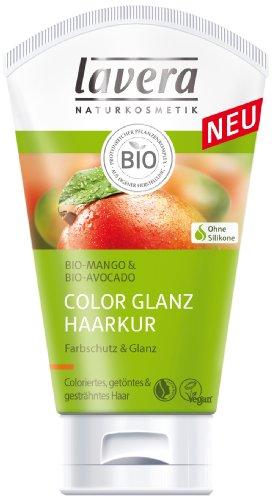 lavera Haarkur Bio Mango - Farbschutz und Glanz für coloriertes und getöntes Haar, vegan 4er Pack (4 x 125 ml)