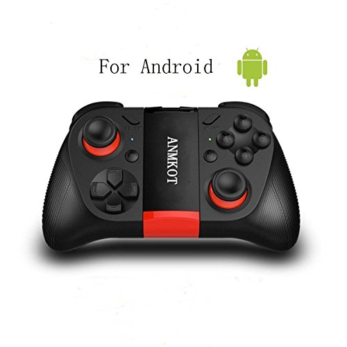 ANMKOT Wireless USB Rechargeable Bluetooth Game Controller Gamepad Joypad Joystick for Samsung Gear VRc S7c S7 Edgec with Clip for Android