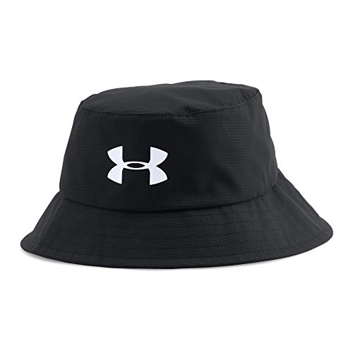 Under Armour Men's Storm Golf Bucket Hat, Black (001)/White, Medium (Bucket Fit Storm)