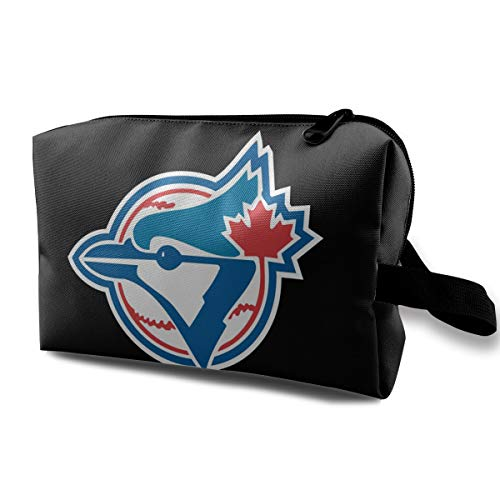 Toronto Bl-ue Jays Platinum Logo Portable Travel Makeup Bags Toiletry Bag Luggage Cosmetic Packing Bag with Zipper ()