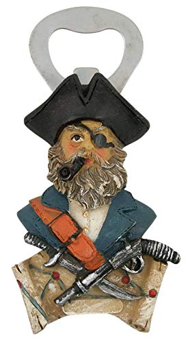 Magnetic Pirate Refrigerator Bottle Opener, 4 1/2 Inch
