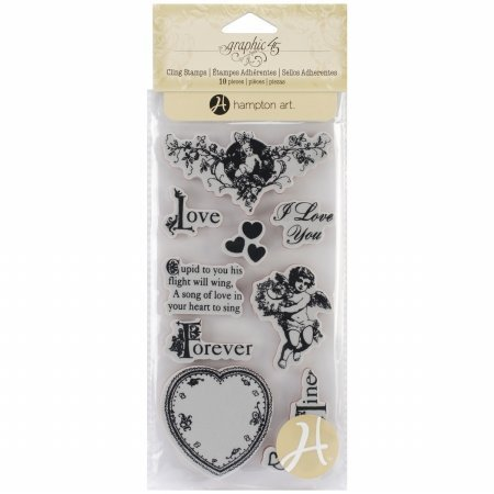 Graphic 45 Sweet Sentiment 2 G45 Cling Stamp by Graphic 45