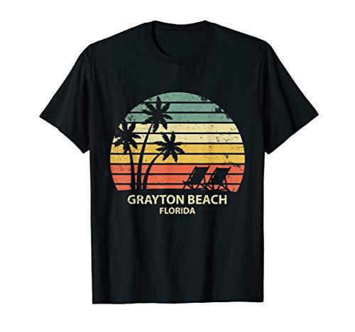 Vintage Florida Grayton Beach T Shirt Cool Retro Tee ()