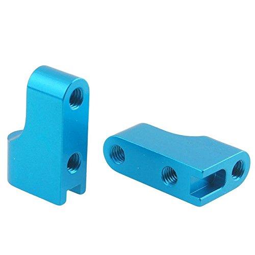 SODIAL(R) Aluminum Servo Mount AX80028-5 Blue For RC Axial Racing SCX10 Wrangler (Servo Blue Mounts Aluminum)