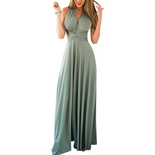 HUHHRRY Women's Off Shoulder Elegant Maxi Long Dress