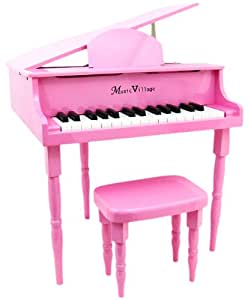 Amazon Com Hot Pink Quot Baby Quot Grand 30 Key Childs Piano With