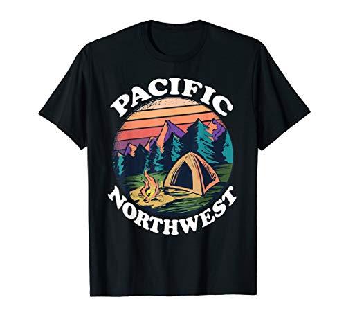 PNW Pacific Northwest T-Shirt Retro Vintage Gift