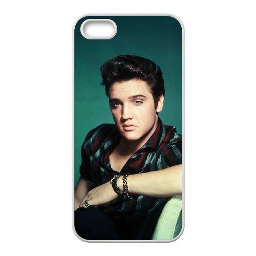 Elvis Presley 004 coque iPhone 5 5S Housse Blanc téléphone portable couverture de cas coque EOKXLLNCD16811