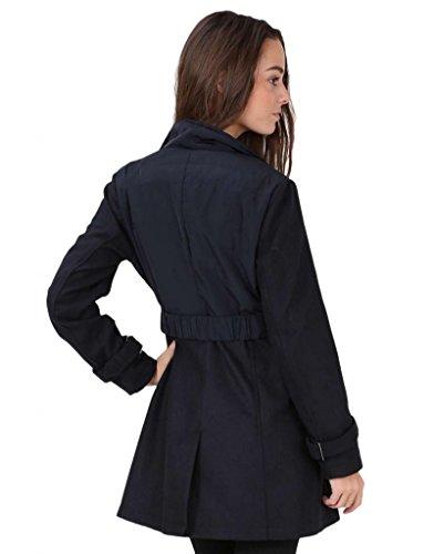 Maty Prêt-À-Porter - Manteau Trench, Cintré - Femme - Bleu Marine