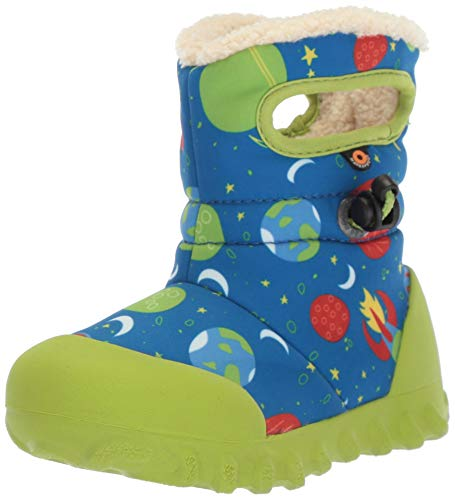 Price comparison product image Bogs Baby B-Moc Waterproof Insulated Kids/Toddler Winter Boot, Space Print/Blue/Multi, 9 M US