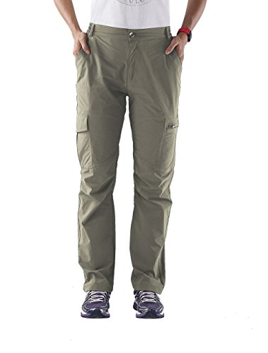 Nonwe Ladies' Outdoor Quick Dry Travelling Cargo Pants Khaki L/29 Inseam
