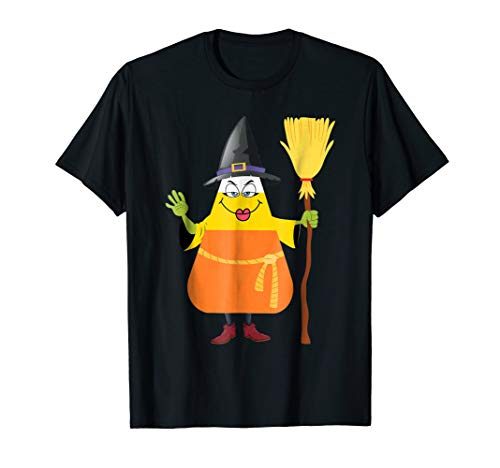 Candy Corn Witch T-shirt Funny Witches Trick Or Treat Tee