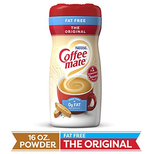 COFFEE MATE Fat Free The Original Powder Coffee Creamer 16 Oz. Canister | 12 Pack | Non-dairy, Lactose Free, Gluten Free Creamer