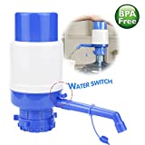 5 gallon jug water pump - Drinking Water Pump, Manual Water Bottle Pump with Water Switch for 3 5 6 Gallon Jug