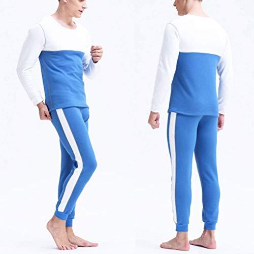 Nnen Lavoro Saoye Addensare Da Sleepwear Mens Fleece Fashion Blu Warm Ester Giovane Uomo Foderato rEZWSAqxEw