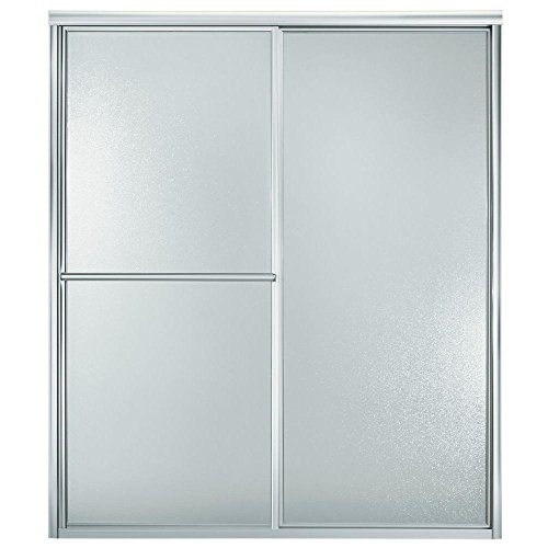 Sterling 5970-59S Deluxe By-Pass Bath Door, Silver with Pebbled Glass (70