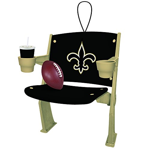 Team Sports America NFL New Orleans Saints Stadium Chair Christmas Ornament, Small, Multicolored