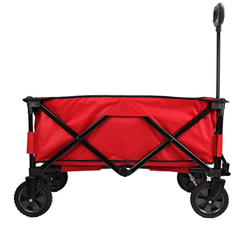 PATIO WATCHER Collapsible Wagon Folding Wagon Utility Wagon Cart Heavy