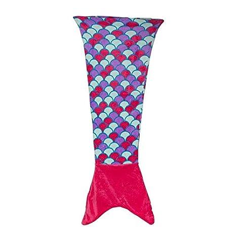 ICARUS - Manta y Saco de Dormir Cola de Sirena para Niños de Microfibra, Suave y cálida de Color Variado en Rosa 52 x 21,75cm: Amazon.es: Hogar
