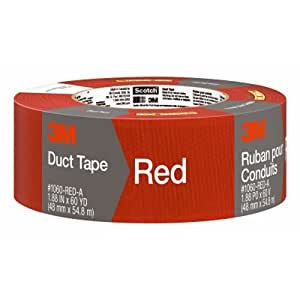 3M Scotch Duct Tape,  1.88-Inch by 60-Yard - Red, 1 Pack
