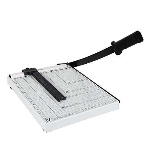 - 12'' A4 Paper Trimmer Guillotine Paper Cutter,12 Sheets Capacity