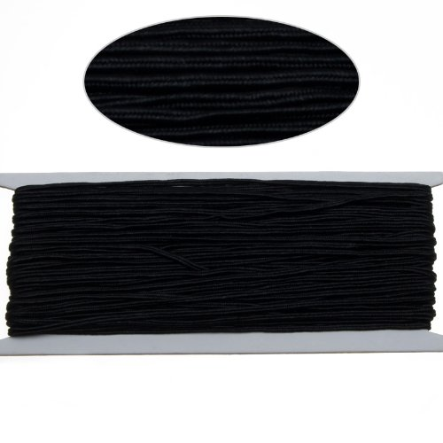 - Black Color Soutache Cord for Jewelry Making-65 Feet-2.5mm Width