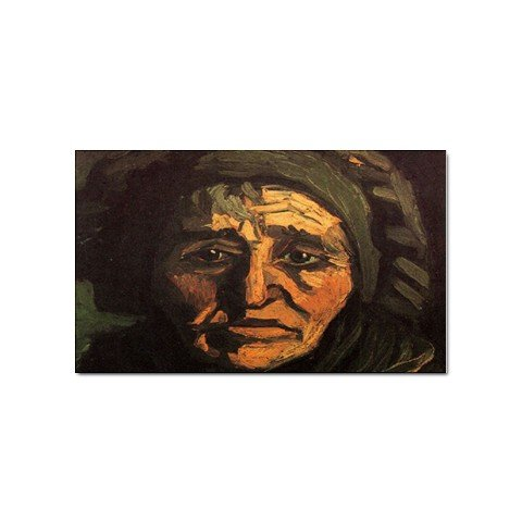 Head of a Peasant Woman with Greenish Lace Cap By Vincent Van Gogh Sticker