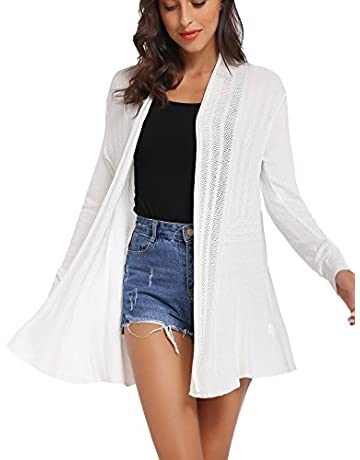 400a357646e2 iClosam Womens Casual Knitted Long Sleeve Lightweight Open Front Cardigan  Sweater