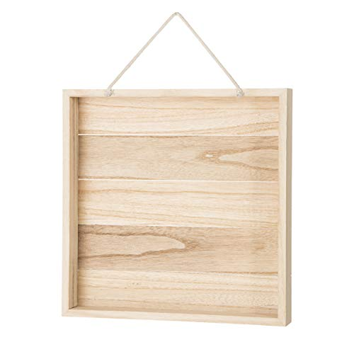 Darice 30052997 Unfinished Wood Square, 12 Inches Shadowbox, Natural -
