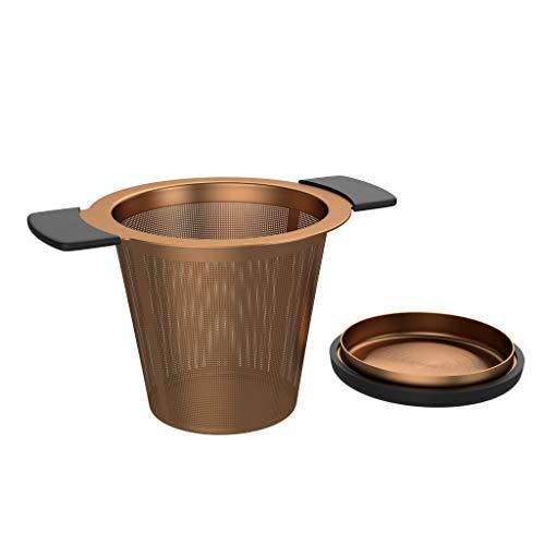 BonVIVO Puri infusor te acero inoxidable para te de hojas sueltas, practico colador te para teteras o tazas, de alta calidad y funcional, filtro de te de malla