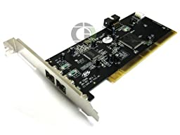 HP 398400-001 PCI FireWire 800 Mbps IEEE-1394b 3-Port card - With brackets for low profile and full height PCI slots - Two IEEE-1394b bilingual 9-Pin connector (Rear)