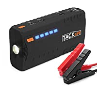 Car Jump Starter, TACKLIFE 600A Peak (up to 6.2L Gas, 5.0L Diesel Engine) Auto Battery Booster and Power Bank Phone Charger with Quickcharge Built-in LED Light and Smart Jumper Cables