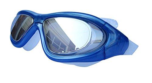 Adult Swim Mask - Qishi's Super Big Frame No Press the Eye Swimming Goggles for Adult (blue)